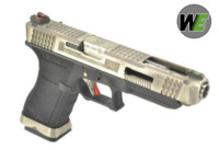 WE G35 GBB Pistol (Sliver Slide, Black Frame, Sliver Barrel)