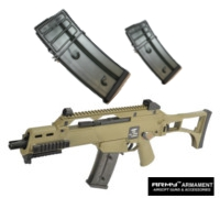 Army R36C Assault Rifle GBB (Tan) with 2 Magazines