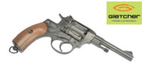 Gletcher Metal Nagant M1895 CO2 Revolver (Black)