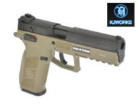 KJ Works CZ P-09 Duty GBB Pistol (CO2 Version , Tan)