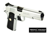 Army Metal R29 MK IV Gold Cup National Match GBB Pistol (Silver)