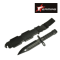EAIMING M9 Dummy Knife Set with Belt Mount(Black)