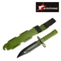 EAIMING M9 Dummy Knife Set with Belt Mount(Olive Drab)