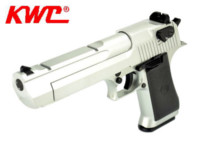 KWC Metal Slide Desert Eagle 50AE CO2 GBB Pistol (Silver)