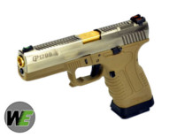 WE GP1799 GBB Pistol (Silver Slide,Tan Frame,Gold Barrel)