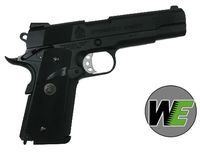 WE M.E.U. Full Metal GBB Pistol (with USMC Marking) -BK