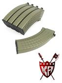 King Arms AK 140 rounds Waffle Pattern Magazines (5pcs) -DE