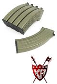 King Arms AK 140 rounds Waffle Pattern Magazines (5pcs) OD