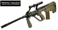 Army AUG Military Model AEG with 3X Scope (KU902, Olive Drab)