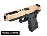 Army CNC Metal Slide G34 J Style GBB Pistol (Rose Gold)