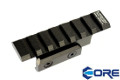 CORE Aluminum B-18 20mm Rail Sight Mount For AKS-74U (Black)