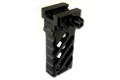 NOB Metal DLOC Vertical Grip With Angled Stripes (Black)
