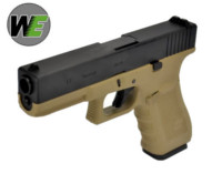 WE G17 Gen4 Rail Metal Silde GBB Pistol (BK & DE).