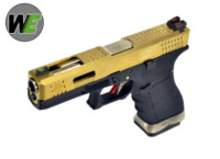 WE G17 GBB Pistol (Gold Slide, Black Frame, Silver Barrel)