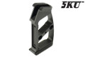 5KU CNC Aluminum Modular Grip For M4 GBB Rifle (Knurly, Black)