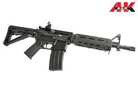 A&K M4A1 MOE CQB AEG Carbine / Rifle (Black)
