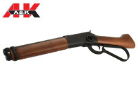 A&K Real Wood M1873 Sawed-Off Gas Lever Action Rifle (Black)