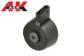 A&K 3000 Rounds Sound Control Drup Magazine For M4 AEG (Black)