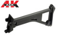 A&K Fixed Skeleton Stock For M249 SAW MK1 AEG LMG (Black)