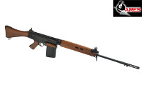 ARES L1A1 SLR(FN FAL) AEG Rifle (Real Wood, Black)
