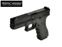 Army Alloy Slide R17-2 G17 GBB Pistol (Black)