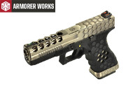 Armorer Works Hex Cut Signature G17 GBB Pistol (2-Tone)