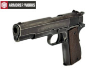 Armorer Works classic 1911 GBB Pistol (Black grip Cover)