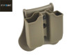 CYTAC Double G Series Magazine Pouch w/ Paddle & Belt Loop (FDE)