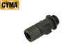 CYMA Metal Flash Hider For MP5 AEG SMG (Black, 14mm CCW)
