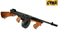 CYMA M1928A1 Thompson AEG SMG (Black, Imitation Wood)