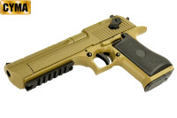 CYMA Metal Slide Desert Eagle Mark XIX AEP Pistol (Tan)