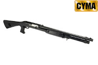 CYMA Benelli M3 Air-cocking Shotgun w/ Fixed Stock (L, Black)