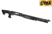CYMA Metal Extendable Stock Benelli M3 Air-cocking Shotgun(L,BK)