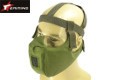 EAIMING Hard Foam Half Face Protective Mask (Olive Drab)