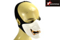 EAIMING Japanese Hannya Style Half Face Mask (White)