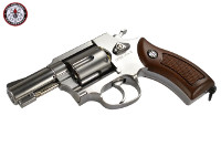 G&G G731 Swing Out DA CO2 Revolver (Silver Frame, Brown Grip)