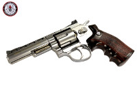 G&G G732 Swing Out DA CO2 Revolver (Silver Frame, Brown Grip)