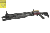 Golden Eagle M870 AR Tactical Tri-Shot Gas Pump Action Shotgun