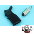 G&P M4/M16 AEG Waffle Heat Sink Grip Devil Jet Kit (Black)