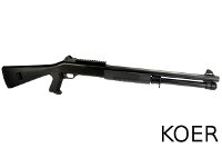 KOER Metal Benelli M4 Air-cocking Shotgun w/ Fixed Stock (Black)