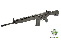 LCT G3A3 AEG Battle Rifle (BK, Steel Receiver, Wide Handguard)
