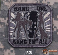 MSM Bang One Bang Em All Large Patch - ACU