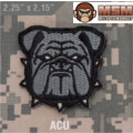 MSM Bulldog Head Small Patch - ACU