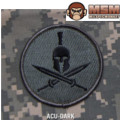 MSM Spartan Helmet Patch - ACU Dark