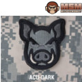 MSM Pig Head Patch - ACU Dark