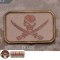 MSM Pirate Skull Flag Patch - Desert