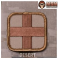 MSM Medic Square 2 inch Patch - Desert