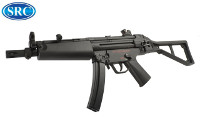 SRC MP5AU AEG SMG (Black, Steel Receiver)