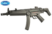SRC MP5A5 AEG SMG (Black, Steel Receiver)