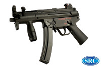 SRC MP5K AEG SMG (Black, Steel Receiver)